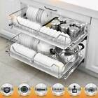 3 Pull Out Kitchen Storage Basket Rack Kitchen Wire Mesh Cabinet Organiser 600mm | eBay Pull Out Kitchen Storage, Larder Storage, Cupboard Storage, Storage Baskets, Food Storage, Cupboard Drawers, Kitchen Drawers, Sliding Door Mechanism, Kitchen Larder