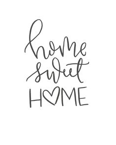 quotes Home Sweet Home // Brush Script Quote // Digital Print // Hand-Lettered Brush Script, Calligraphy Doodles, Calligraphy Handwriting, Love Caligraphy, Modern Calligraphy Quotes, Calligraphy Letters, Sweet Home, Hand Lettering Quotes, Quotes In Cursive