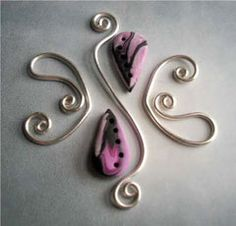 A wire work and polymer clay tutorial by Alkhymeia