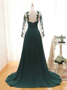 Welcome to our Store.thanks for your interested in our gowns.As a manufacturer specializing in producing top-grade wedding gowns. Wedding-dresses' gowns is sele Prom Dresses 2015, Grad Dresses, Cute Dresses, Long Sleeve Evening Dresses, Prom Looks, Types Of Dresses, Beautiful Gowns, Designer Dresses, Chiffon