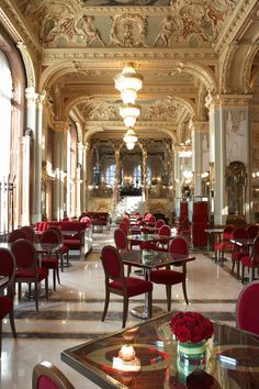 New York Cafe in Budapest has been around since 1894. The elegance here is palpable. http://www.newyorkcafe.hu/