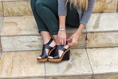 salty blondes fashion blog, Michael Kors wedges from Nordstrom - on sale