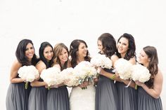 Beautiful charcoal bridesmaids dresses | Jess Robertson Photography