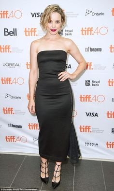 Woman of the hour: The award-winning actress pulled a confident pose as she flaunted her hour-glass figure and impeccably-toned arms