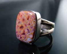 This palladium white gold hand-fabricated ring featured a custom-cut gem dinosaur bone cab. by Jessa and Mark Anderson is licensed under CC By Bone Jewelry, Jewelry Art, Gemstone Jewelry, Jewelry Accessories, Jewelry Design, Fashion Jewelry, Fashion Ring, Dinosaur Bone Ring, Dinosaur Bones