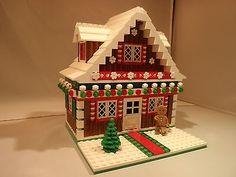 LEGO Custom winter Christmas village Gingerbread House goes with 10199 Toy Shop