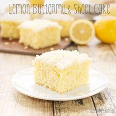 Lemon Buttermilk Sheet Cake Sweet Pea's Kitchen