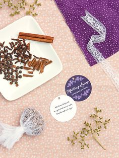 Mulling Spice Wedding Favor #diy #autumn #wine #labels #tags