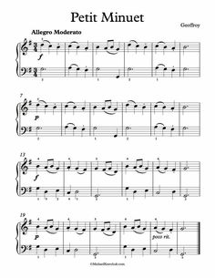 Free Piano Sheet Music - Petit Minuet - by Jean-Nicolas Geoffroy. Enjoy!
