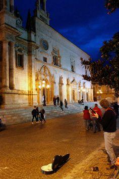 Beautiful town of Sulmona by night