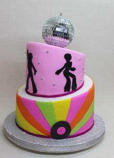 Disco Party Cake by Violeta Glace