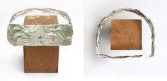 glass and wood stool, 2007 (2002-)