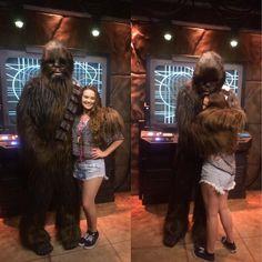 You can't deny a big Chewbacca hug!  #Disneyland #starwars #chewbacca #loveit #hugs by nross0314