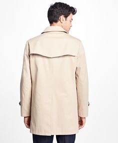 Water-Resistant Single-Breasted Trench Coat - Brooks Brothers