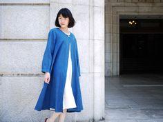 麻布樂 本麻・正藍染め 自然布を纏う