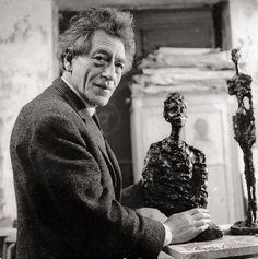 Alberto Giacometti in Paris by Gisele Freund: