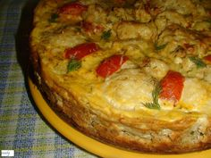 Reteta culinara Budinca de conopida din categoria Aperitive / Garnituri. Cum sa faci Budinca de conopida Easy Healthy Recipes, Easy Meals, Romanian Food, Romanian Recipes, Quiche, Food And Drink, Low Carb, Pizza, Cooking Recipes