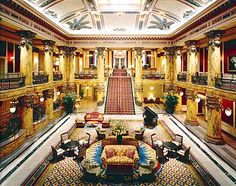 The Jefferson Hotel Richmond VA- another great old hotel with beautiful decor and a rich history.