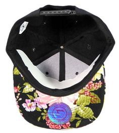 836ad7e7d19f3 Wholesale Blank Floral Snapback Hats Caps - Black