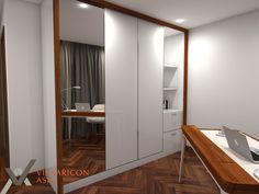 wardrobe and study area