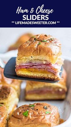 Ham and Cheese Sliders Ham and Cheese Sliders are the perfect snack and a great way to use up any leftover ham. Super easy to make with oven roasted ham, two cheeses and buttery garlic sauce over Hawaiian rolls. Ham And Cheese Sliders Hawaiian, Hawaiian Roll Sandwiches, Ham Cheese Sliders, Rolled Sandwiches, Slider Sandwiches, Sandwiches With Hawaiian Rolls, Ham Cheese Sandwiches, Hawain Roll Sliders, Mini Sandwich Appetizers