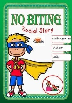 Social Story-Biting, A tried and tested strategy in behaviour managment.Social stories help a person with autism understand how others might behave or respond in a particular situation, and therefore how they might be expected to behave and to help others