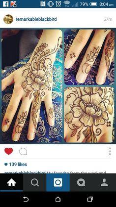 Remarkable Blackbird - festival henna, floral strip