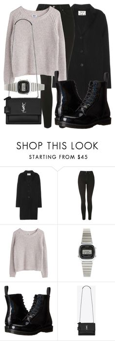 """Untitled #5031"" by beatrizvilar on Polyvore featuring Acne Studios, Topshop, MTWTFSS Weekday, Casio, Dr. Martens and Yves Saint Laurent"