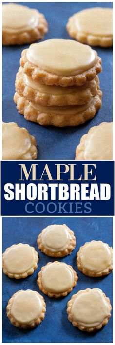 Shortbread Cookies These Maple Shortbread Cookies are melt in your mouth shortbread cookies with maple flavoring. the-girl-who-ate-These Maple Shortbread Cookies are melt in your mouth shortbread cookies with maple flavoring. the-girl-who-ate- Cookie Brownie Bars, Cookie Desserts, Just Desserts, Cookie Recipes, Delicious Desserts, Dessert Recipes, Yummy Food, Cookie Cups, Tasty