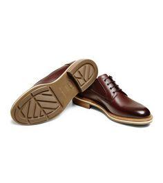 ERMENEGILDO ZEGNA: Laced Shoes Maroon - 44955018RD