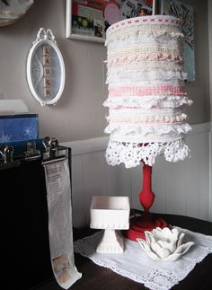 Love this lace lamp shade