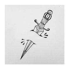 Dagger Design on Behance Finger Tattoos, Body Art Tattoos, Tribal Tattoos, Sleeve Tattoos, Tattoo Sketches, Tattoo Drawings, Future Tattoos, Tattoos For Guys, Heart Dagger Tattoo