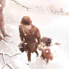 L and his father figure, Watari.