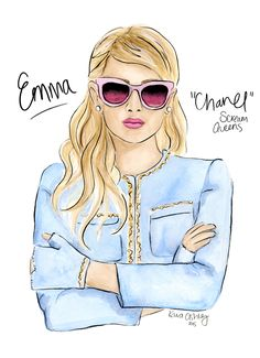 Emma Roberts as Chanel on Scream Queens