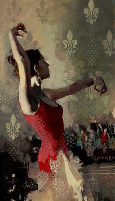 "Michael Fitzpatrick | Flamenco II | 35""x20"""