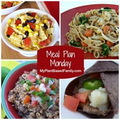 Plant-Based Meal Plan for a working mom and family. Easy recipes that come together quickly.