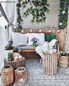 Turn your balcony into your favorite retiring space. Take cues from some of the given balcony decorating ideas for inspiration. Target Home Decor, Fall Home Decor, Cheap Home Decor, Small Balcony Decor, Balcony Design, Balcony Ideas, Hallway Decorating, Decorating Small Spaces, Decorating Ideas