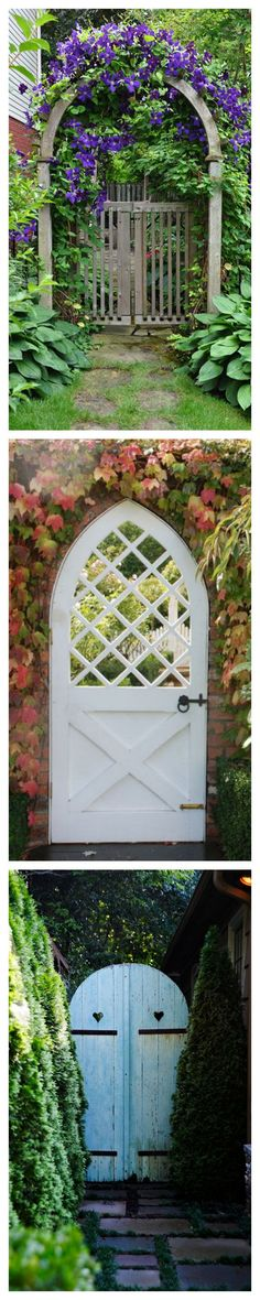 Rustic Garden Entryways by housebeautiful #Gardens                                                                                                                                                                                 More