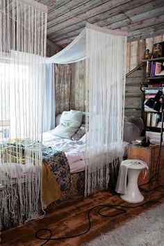 bedroom   Tumblr anyone know where to buy the bed curtains or what theyr called?