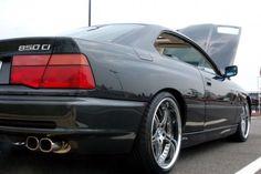 BMW 1993 850 Ci black with SSR wheels