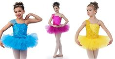 Once Upon A Time Yellow,Turquoise,Fuchsia Ballet Tutu Dance Costume Child/Adult #Cicci