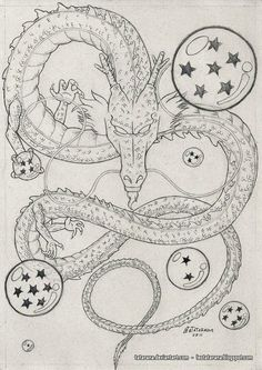 Easy Draw : Getting The Best Dragon Tattoos – Japanese Dragon Tattoo Meanings - Art & Drawing Community : Explore & Discover the best and the most inspiring Art & Drawings ideas & trends from all around the world Dragon Shenlong, Tattoo Dragonball, Dragon Ball Z, Japanese Dragon Tattoo Meaning, Z Tattoo, Tattoo Fonts, Manga Dragon, Anime Tattoos, Dragon Tattoos