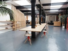 Breakout space at Clarks Originals' Somerset office