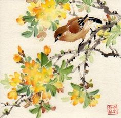 """A Happy Morning"" - Original Fine Art for Sale - © Jinghua Gao Dalia"