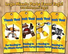 Lego Mixels Party Favor Tags  Download Print  by InstantBirthday