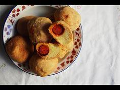 Cómo hacer Bollos Preñaos Caseros - Recetas de pan fácil - YouTube