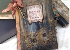 Steampunk Wedding Guest Book - 24 pages youruniquescrapbook