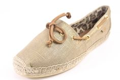 Sperry Top-Spider Linen/Metal Katama Canvas Loafers