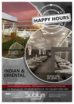 Have a Good Time….!!  #Sublym Kitchen & #bar Offering #Delightful #happyhours in their Multiple #Dinning Level with non-stop music....!!!