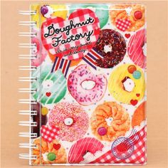 big white pastry donut glitter ring binder sticker album